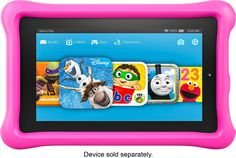 """Amazon - Geek Squad Certified Refurbished Fire Kids Edition - 7"""" Tablet - 8GB - Pink"""