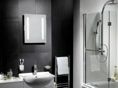 The striking Sienna illuminated mirror has 2 frosted strip lights creating a warm white fluorescent glow and is ideal for shaving and applic...