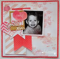 Stencil Magic Layout by @sarahbargo for @heidiswapp #heidiswapp #scrapbooking #stencilmagic