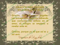 ORACIÓN PARA RECIBIR MILAGROS EN TU VIDA  #UniversoDeAngeles www.facebook.com/UniversoDeAngeles