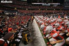 The Buckeyes are ready to roll at the Championship Game vs the Oregon Ducks. January the 12th 2015 at the AT&T Center Fort Worth Texas.