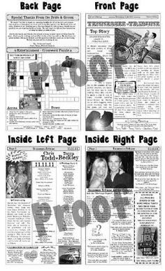 Printable Wedding Program - Tandem | Tandem, Wedding programs and ...