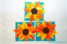 These chalk pastel sunflowers are so colorful and beautiful! Kids will learn easy chalk pastel techniques to create this fun sunflower art project! Chalk Pastel Art, Chalk Pastels, Oil Pastels, Sunflower Crafts, Sunflower Art, Pastel Sunset, Sunset Art, Art Activities For Kids, Art For Kids
