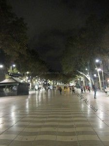 #Barcelona #LasRamblas A view down the pedestrian walkway, the place to see at night.