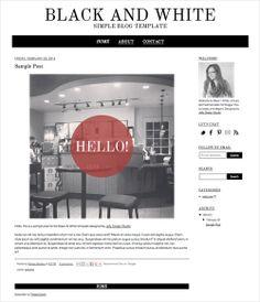 Black and White Blogger Template via Jelly Design Studio | www.jellydesignstudio.com