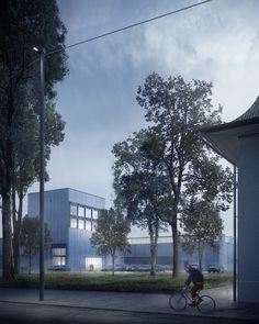 Visualizations for the competition entry by Boltshauser Architekten: the new depot building RBS in Bätterkinden. The project made it to the rank. Image 3d, New Image, 3d Architectural Visualization, New York, Animation, Competition, Building, Projects, New Construction