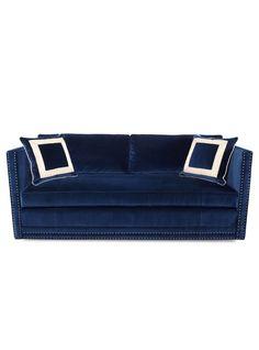 Blue suede sofa!!!!
