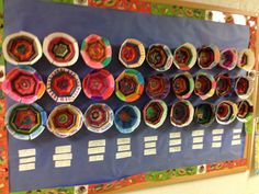 Third grade paper plate woven African inspired bowls