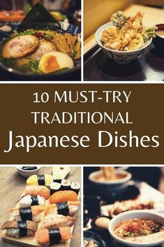 These are 10 traditional Japanese dishes that you should try if you have any interest in Japanese food. #Japan #Japanesefood Food Travel, Asia Travel, Japan Travel, Japanese Dishes, Japanese Food, Food Inspiration, Travel Inspiration, Travel Guides, Travel Tips