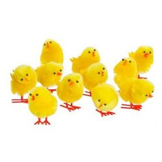 Easter Chick Decorations 12 Pack - Easter Crafts - Easter