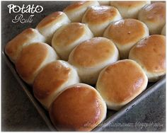 Double the Deliciousness: Mom's Potato Rolls -- these look heavenly! #rolls #bread