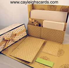 FREE tutorial to make a stationary box from Cayleighscards.com
