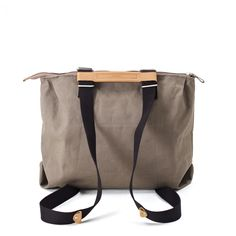 QWSTION - SIMPLE ZIPTOTE - ORGANIC CARIBOU - We've always liked simple holdalls, but also the comfort of a backpack when carrying some weight. Our new Simple Ziptote offers both. With a volume suited for daily use, an outside and some inside pockets and our Simple-Strap-System®, you get lots of versatility with classic style. #questionthenorm Artistic Installation, Classic Style, Diaper Bag, Organic Cotton, Backpacks, Pockets, Simple, Bags, Handbags