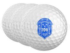 Zeta Phi Beta Golf Balls (Set of 3)  Item Id: ZFB-GOLFBALL  Price:  $15.00