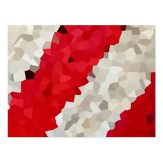Holiday Red and White Candy Cane Mosaic Abstract Postcard - holiday card diy personalize design template cyo cards idea