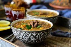 soupe Harira marocaine, harira fassia | Le Blog cuisine de Samar 20 Min, Thai Red Curry, Exactement, Samar, Ethnic Recipes, Direction, Middle East, Food, Indian