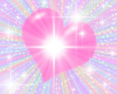 Free Pictures Hearts   Background Wallpaper Image: Pink Starburst Heart