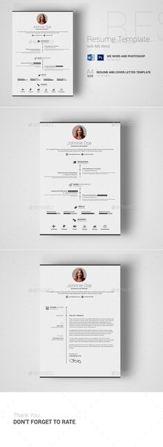 CV Word Modern resume template, Modern resume and Cv template - resume microsoft word template