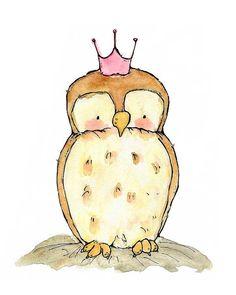 Children's Art Royal Little Owl Archival by trafalgarssquare