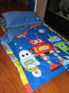 Adorable Nap Mat !!!  Double sided attached blankie, other themes available !!!  Check out my shop !!!!