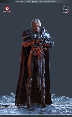 Lich Queen Jaina Proudmoore by George Panfilov | Fan Art | 3D | CGSociety