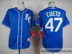 MLB Kansas City Royals #47 Johnny Cueto Blue Jersey