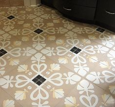 Beige cement tile