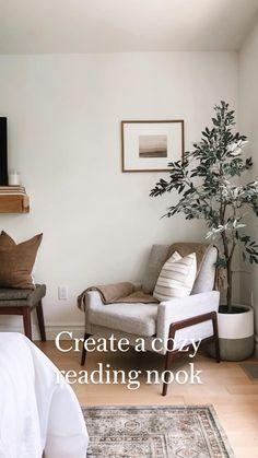 Cozy Bedroom, White Bedroom, Bedroom Ideas, Contemporary Bedroom, Modern Bedroom, Home Decor Baskets, Master Bedroom Design, Bedroom Vintage, Dream Decor