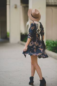 Such a cute put together. I love hats, but I  just wish I was bold enough to wear them!
