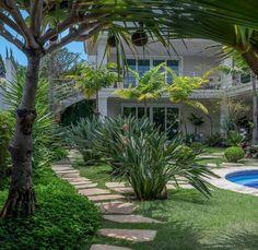 Garden at beach house