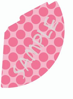 Custom Printable Pink Polka Dot Party Hat for Baby Shower or Girls Party. $2.00, via Etsy.