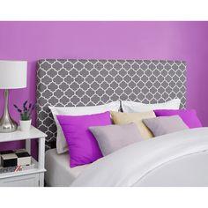 Full/Queen Headboard, Gray and White Trellis Pattern: Furniture : Walmart.com $149.00