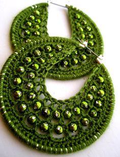 crocheted earrings...