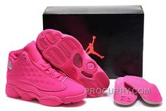 hot sales a7dd2 a37fb Girls Air Jordan 13 All-Pink Shoes For Sale Online Hot