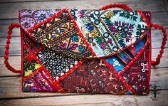 Röötz - Indian clutch evening bag, Ladies Purse, Sequin Envelope, Evening Clutch Bag,Banjara Clutch bag, Bohemian, Vintage Clutch, Purse