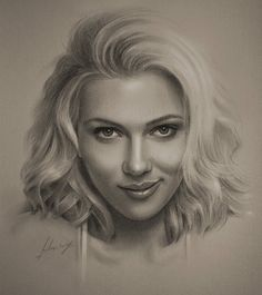 Celebrity Pencil Portraits - Scarlet Johansson