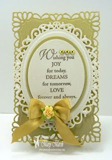 wedding card-used lots of Spellbinders dies and sentiment from Great Impressions Stamps