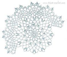 TUTO - Napperon blanc au crochet - tricot-crochet.com | Tricot et crochet