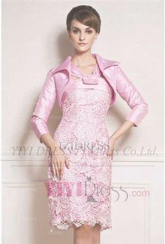 $147.99---Sheath/Column V-neck Knee-length Lace Mother Of The Bride Dress
