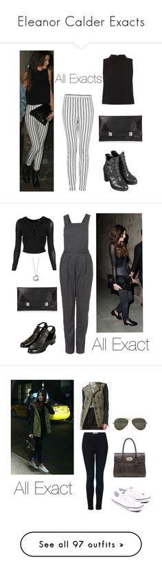 """Eleanor Calder Exacts"" by thetrendpear-eleanor ❤ liked on Polyvore featuring Topshop, Unique, Calder, Elsa Peretti, Zara, Mulberry, Converse, Ray-Ban, Office and River Island"