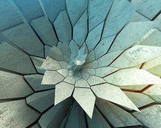 voronoi concrete flower