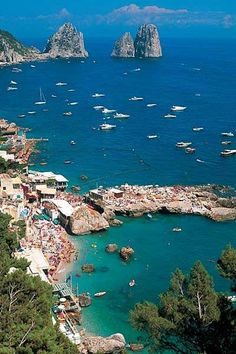Most Beautiful Place To Visit In Italy, Capri - Campania, Italy, near Naples, island South of Naples