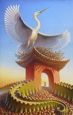 Painting by Artist Jeff Mihalyo.com |  Crane Gate