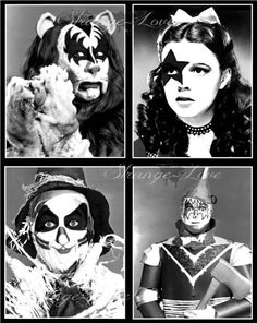 KISS Meets The Wizard of Oz - Digital Art Poster