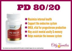 Help maximize internal health and support the endocrine system with Young Living's PD 80/20. #oilyfamilies #youngliving