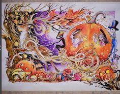 Fabulous Watercolor Paintings by Luqman Reza Mulyono - Jongkie, Indonesian…