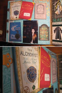 Flourish and Blotts for all wizarding reads Harry Potter scrapbook