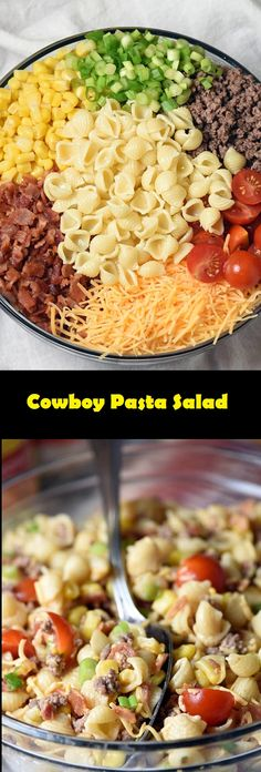 Easy Cowboy Pasta Salad | Easy Recipes