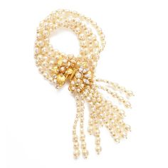 Tassel Pearl Bracelet -Miriam Haskell