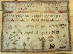 Pretty Victorian Sampler Dated 1859 |